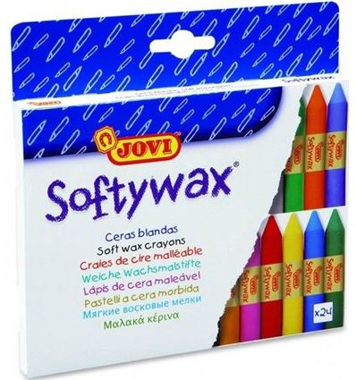 CERAS JOVI SOFTYWAX 24 COLORES - JOVI-SOFTYWAX-5993024