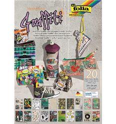 Bloc cartulinas folia 24x34cm 270g 20h graffiti - CARTULINA-GRAFFITI-49048349