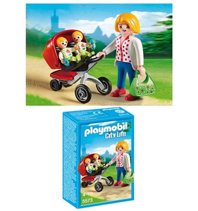 PLAYMOBIL MAMA CON CARRITO DE GEMELOS - PLAYMOBIL-MAMA-CARRITO-GEMELOS-8695573