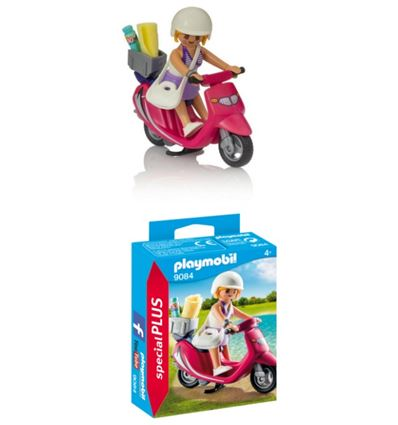 Playmobil mujer con scooter - PLAYMOBIL-MUJER-SCOOTER-8699084