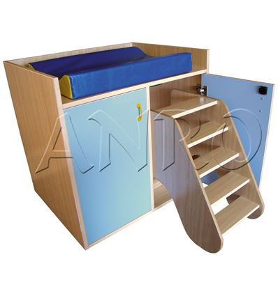 Mueble cambiador con escalera giratoria - 4951076
