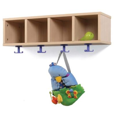 Mueble perchero 4 casillas mod. b - 4951098