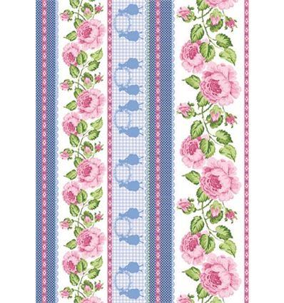 Fieltro gift 50x70cm rosas grandes - 0721ST20