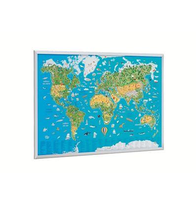 Mapamundi infantil faibo 60x90cm - MAPAMUNDI-INFANTIL-067703