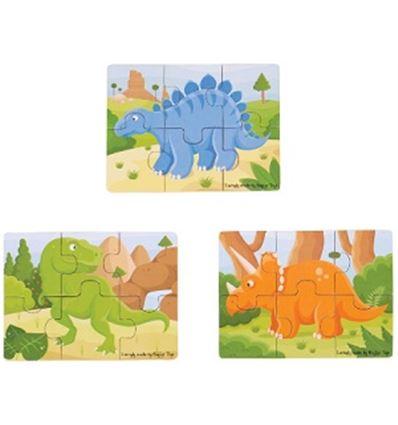 PUZZLES CREATIVOS MADERA DINOSAURIOS - PUZZLE-DINOSAURIOS-879816