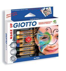 Lapiz cosmetico giotto 6 colores