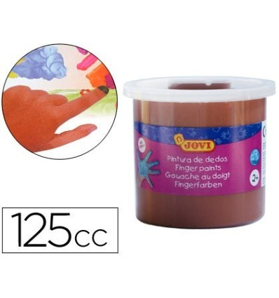 PINTURA DEDOS JOVI 125ML MARRON - 16452
