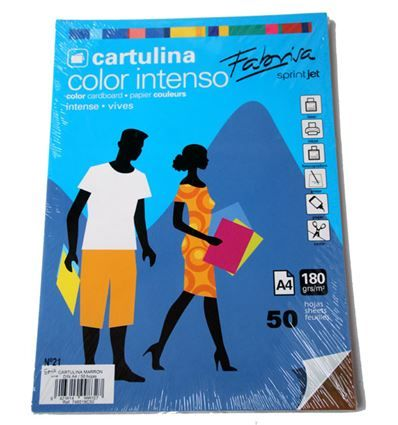 CARTULINA FABRISA A4 50H MARRON CHOCOLATE - 34748518