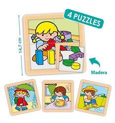 Pack 4 puzzles zaro y nita 4 pzas. - 29055044