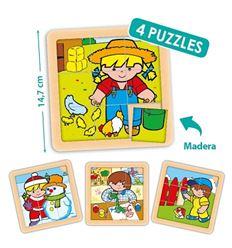 Pack 4 puzzles zaro y nita 9 pzas. - 29055099