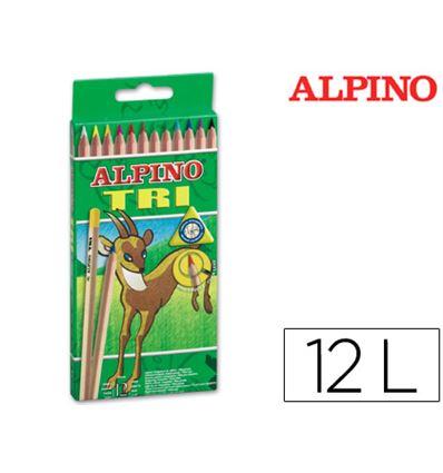 LAPIZ COLOR ALPINO TRI 12 COLORES - 43410