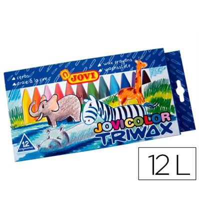 CERAS JOVICOLOR TRIWAX 12 COLORES - 35606