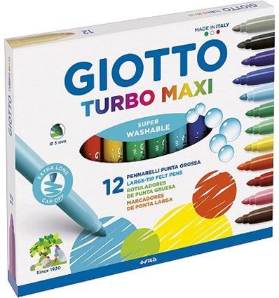 ROTULADOR GIOTTO TURBO MAXI 12 COLORES - 28841