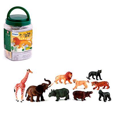 ANIMALES DE LA SELVA 9 FIGURAS - ANIMALES-SALVAJES-FIGURAS