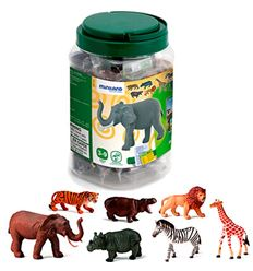 Animales selva 12 cm 7 figuras - 16525123