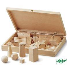 Cuerpos geometricos faibo madera 28ud - 067251