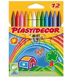 Ceras bic plastidecor 12 colores - 11904