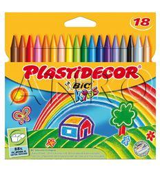 Ceras bic plastidecor 18 colores - 11905