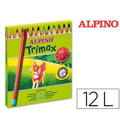 LAPIZ COLOR ALPINO TRIMAX 12 COLORES - 28491