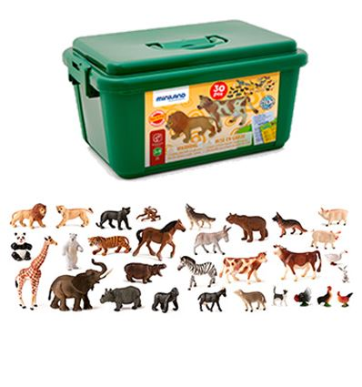 Animales granja y salvajes 30 pzs - 16525140