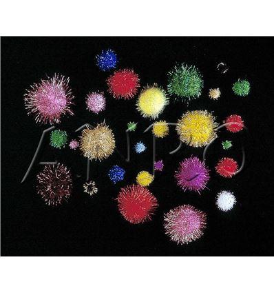 Pompones peters jumbo colores metalizado 100ud - 320065