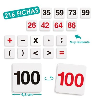 KIT DE CALCULO 216 FICHAS - KIT-CALCULO