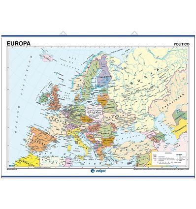 MAPA MURAL EDIGOL F/P 100X140CM EUROPA - 470401
