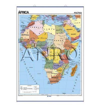 MAPA MURAL EDIGOL F/P 100X140CM AFRICA - 470402