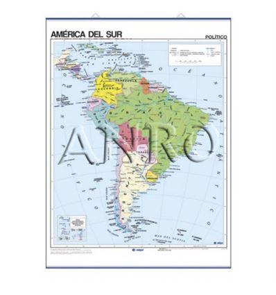 MAPA MURAL EDIGOL F/P 100X140CM AMERICA DEL SUR - 470404