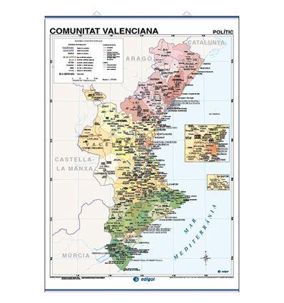 Mapa mural edigol f/p 100x140cm com. valenciana - 470513