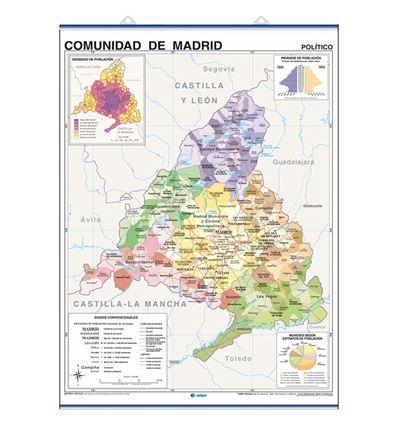 MAPA MURAL EDIGOL F/P 100X140CM COM. MADRID - 470438