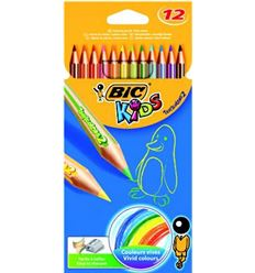 Lapiz color bic kids tropicolors 12 colores - 57037