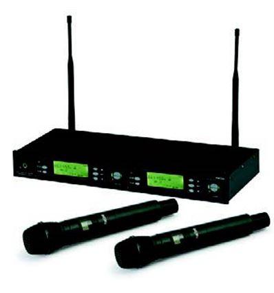SISTEMA INALAMBRICO UHF 2 MICROS MANO - 902895