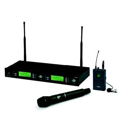 SISTEMA INALAMBRICO UHF MICRO MANO+MICRO SOLAPA+PE - 902898