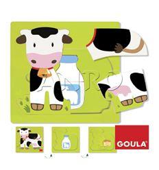 Puzzle 3 niveles vaca - 45553028