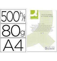 Papel fotocopiadora q-connect din a4 80 gramos -paquete de 500 hojas - 31341