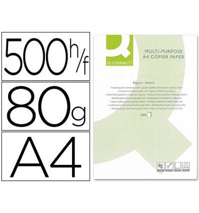 PAPEL FOTOCOPIADORA Q-CONNECT DIN A4 80 GRAMOS - PAQ 500 HOJAS - FOLIOS - 31341