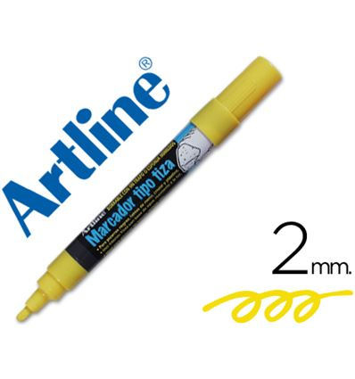 ROTULADOR ARTLINE TIZA LIQUIDA COLOR AMARILLO - 35444