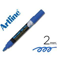 Bolsa 4 rotuladores artline pizarra verde / color azul - 35446