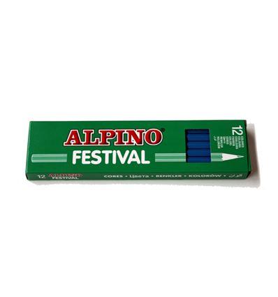 LAPIZ COLOR ALPINO FESTIVAL 12UD AZUL CLARO - 39010