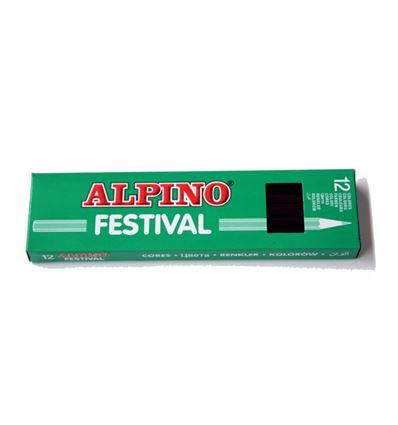 LAPIZ COLOR ALPINO FESTIVAL 12UD NEGRO - 39001