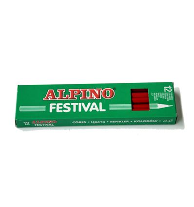 LAPIZ COLOR ALPINO FESTIVAL 12UD ROJO - 39005