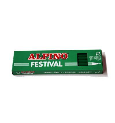 Lapiz color alpino festival 12ud verde claro - 39008