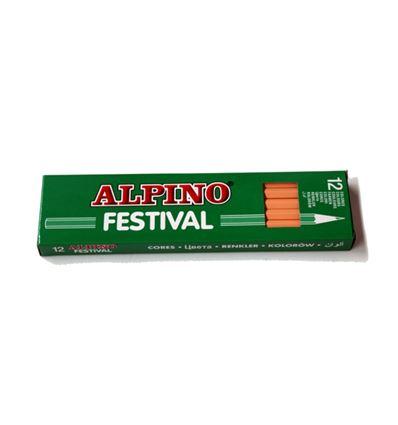 Lapiz color alpino festival 12ud carne - 39026
