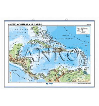 Mapa mural edigol f/p 100x140cm america central/caribe - 470406