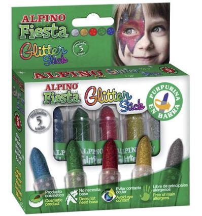 Maquillaje alpino glitter stick 8g 5 colores - 71823