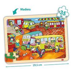 Pack puzzles madera bandeja 35 pzas. transportes - 29052235