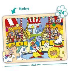 Pack 4 puzzles madera bandeja 24 pzas. tiempo libre - 29052224
