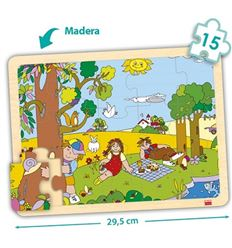 Pack 4 puzzles madera bandeja 15 p. estaciones año - 29052215