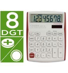 Calculadora citizen cdc-80 rojo - 45319